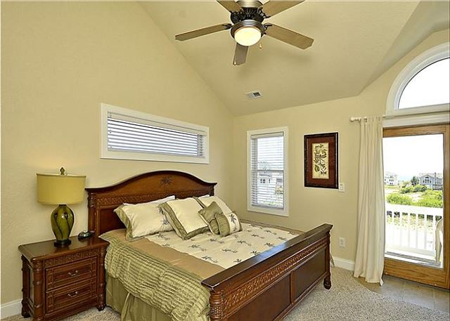 King Master Bedroom Top Level  of Coastal Castle, a 8 bedroom, 7.0 bathroom vacation rental in Corolla, NC