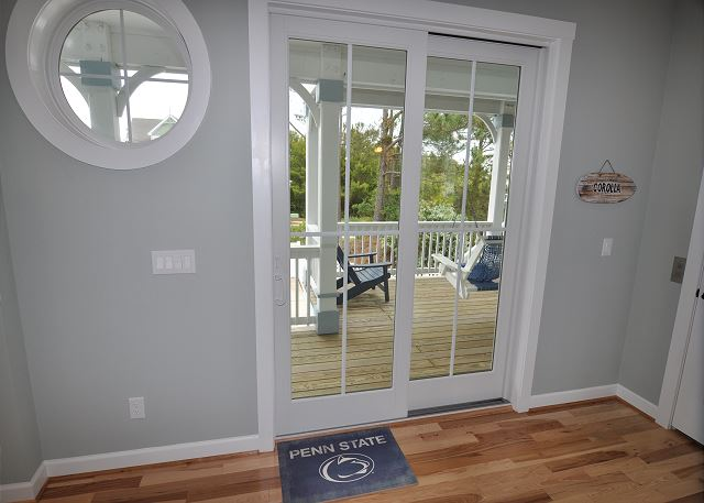 Deck Access Mid Level of Forever 409, a 6 bedroom, 5.5 bathroom vacation rental in Corolla, NC