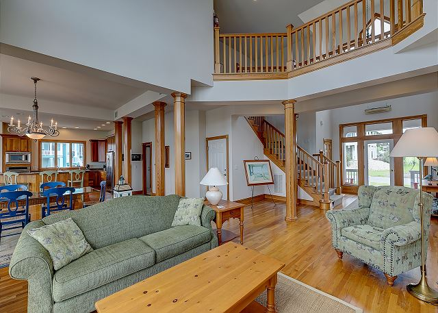 Great Room Main Level of Doc's Landing, a 5 bedroom, 4.5 bathroom vacation rental in Corolla, NC