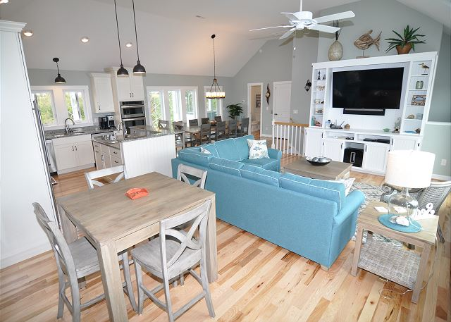 Great Room Top Level of Forever 409, a 6 bedroom, 5.5 bathroom vacation rental in Corolla, NC