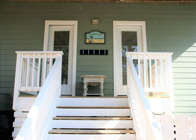 Back doors of Just Fore Fun, a 4 bedroom, 3.5 bathroom vacation rental in Corolla, NC