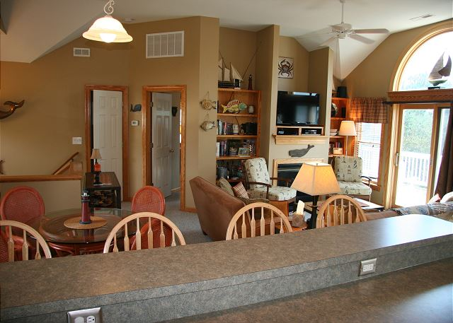 Kitchen Bar Top Level of Shore Sounds Good!, a 5 bedroom, 4.5 bathroom vacation rental in Corolla, NC