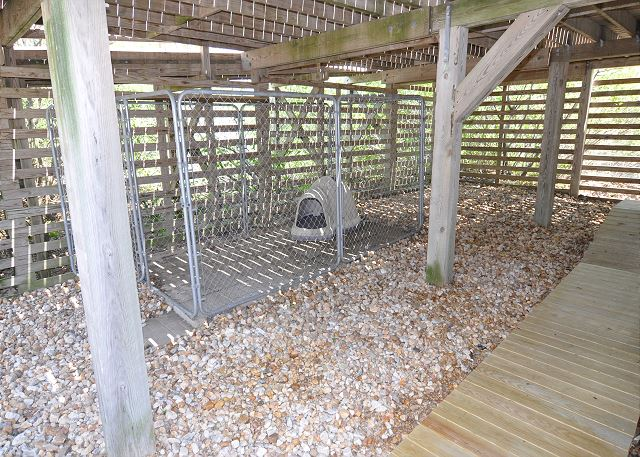 Dog Kennel  of Kara's Sandcastle, a 4 bedroom, 2.0 bathroom vacation rental in Corolla, NC