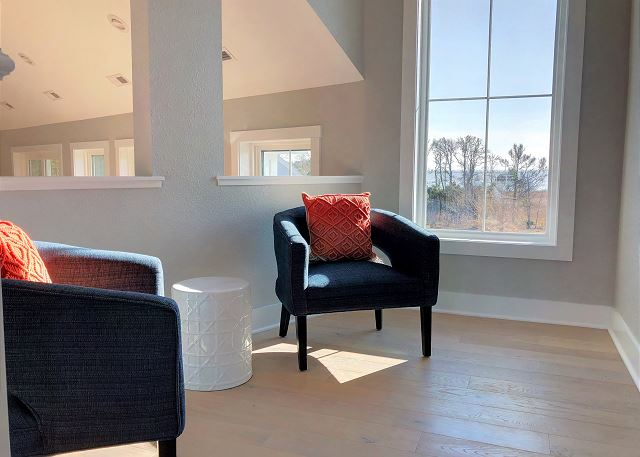 Loft Sitting Area of Summer Love, a 6 bedroom, 6.5 bathroom vacation rental in Corolla, NC