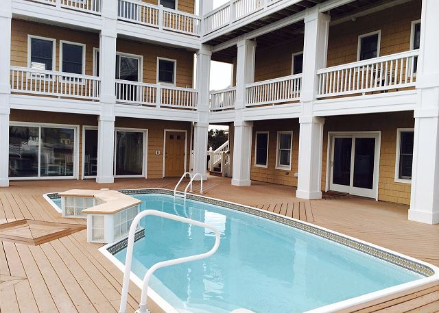 Pool of Coastal Castle, a 8 bedroom, 7.0 bathroom vacation rental in Corolla, NC