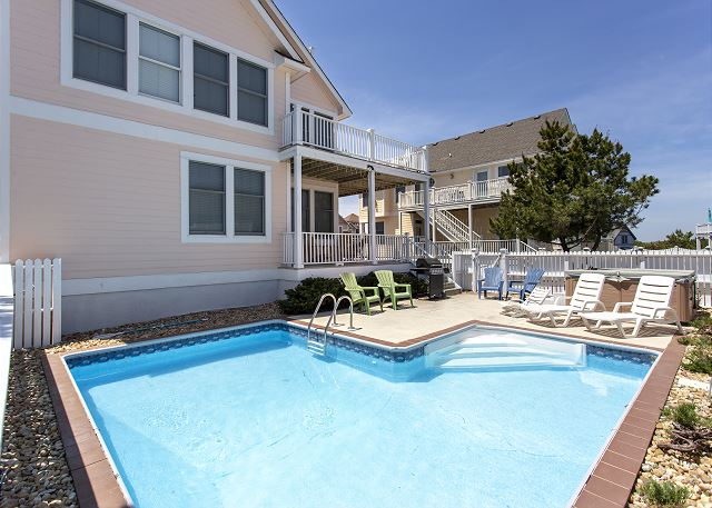 Private Pool of Par-Tee by the Sea, a 4 bedroom, 3.5 bathroom vacation rental in Corolla, NC