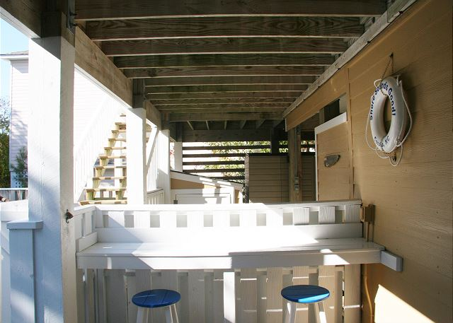 Outdoor Bar of Shore Sounds Good!, a 5 bedroom, 4.5 bathroom vacation rental in Corolla, NC