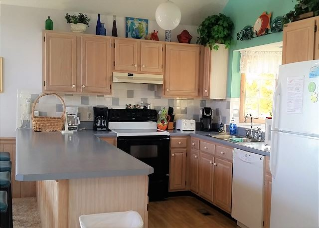 Kitchen Top Level of Neely's Beach Music, a 5 bedroom, 3.5 bathroom vacation rental in Corolla, NC