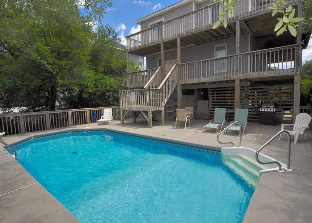 Pool Patio Sunset Strip is a 5 bedroom, 3.0 bathroom vacation rental in Corolla, NC