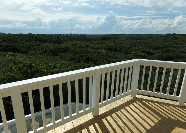 Audubon Preserve View and Sunset Deck of Waterlily, a 5 bedroom, 5.5 bathroom vacation rental in Corolla, NC