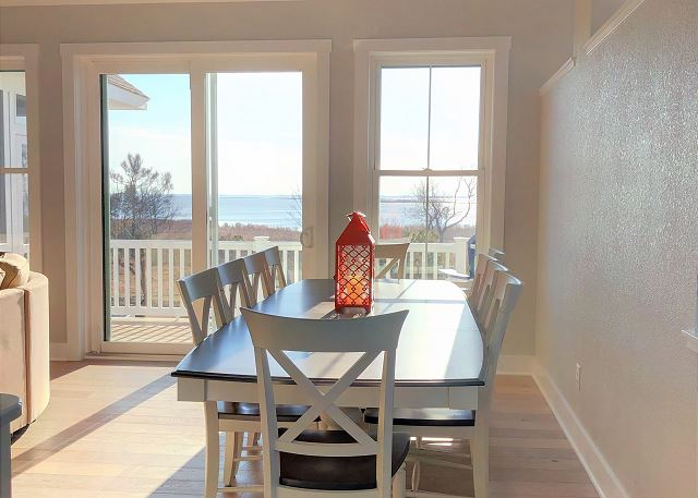 Dining Room Top Level of Summer Love, a 6 bedroom, 6.5 bathroom vacation rental in Corolla, NC