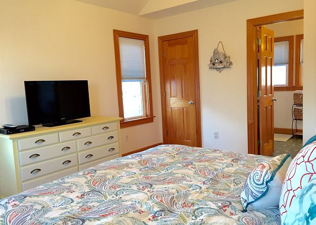 King Bedroom Top Level OB Wave is a 5 bedroom, 3.5 bathroom vacation rental in Corolla, NC