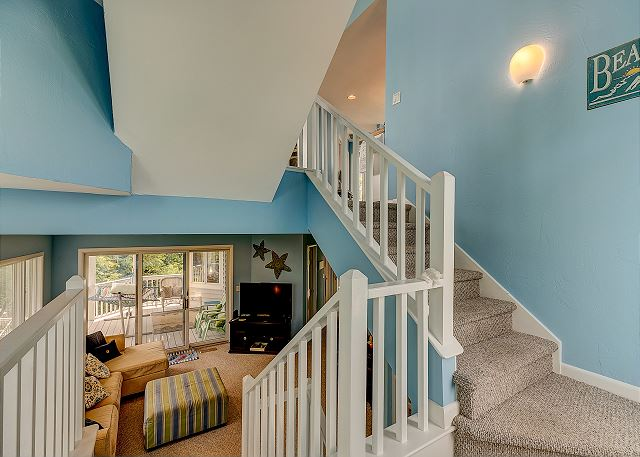 Stairs to Top Level of Sandy Heels, a 4 bedroom, 3.5 bathroom vacation rental in Corolla, NC