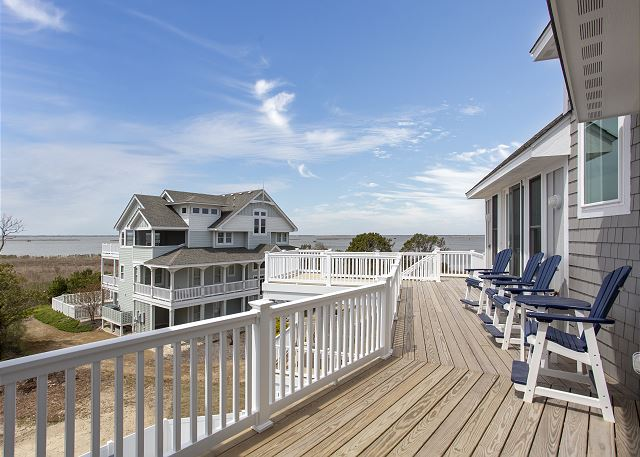 Deck Top Level of Summer Love, a 6 bedroom, 6.5 bathroom vacation rental in Corolla, NC