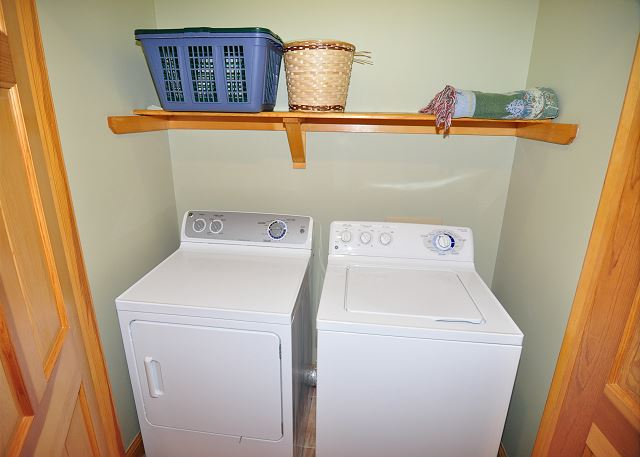 Laundry Area of Silver Creek, a 5 bedroom, 4.5 bathroom vacation rental in Southern Shores, NC