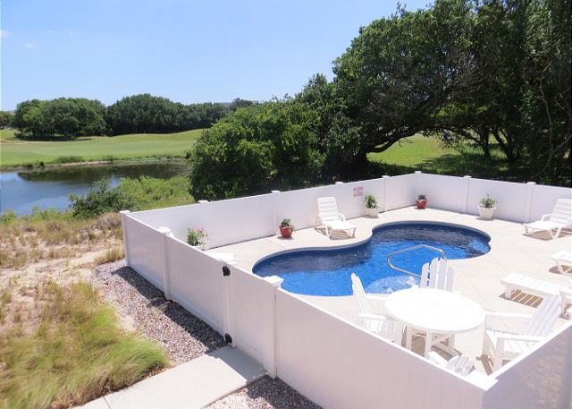 Private Pool of Southern Breeze, a 5 bedroom, 4.5 bathroom vacation rental in Corolla, NC