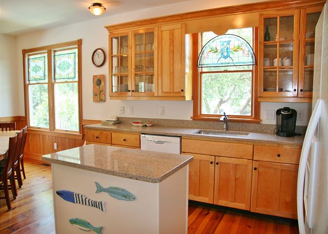 Kitchen of Serendipity, a 5 bedroom, 4.5 bathroom vacation rental in Corolla, NC