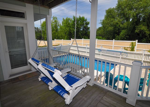Deck and Pool of Pop Pop & GiGi's Oasis, a 4 bedroom, 3.5 bathroom vacation rental in Corolla, NC