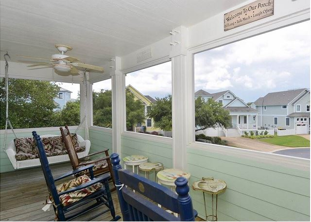 Screened Porch of Paradise Cay, a 5 bedroom, 3.5 bathroom vacation rental in Corolla, NC