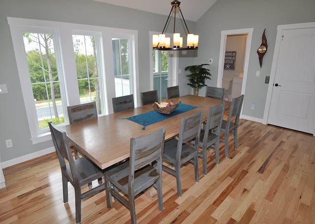 Dining Room Top Level of Forever 409, a 6 bedroom, 5.5 bathroom vacation rental in Corolla, NC