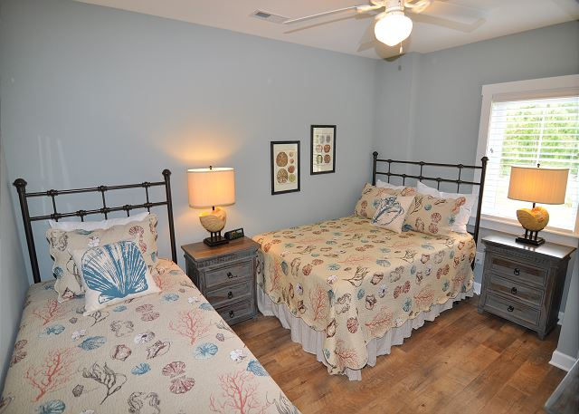 Double/Twin Bedroom Ground Level of Forever 409, a 6 bedroom, 5.5 bathroom vacation rental in Corolla, NC