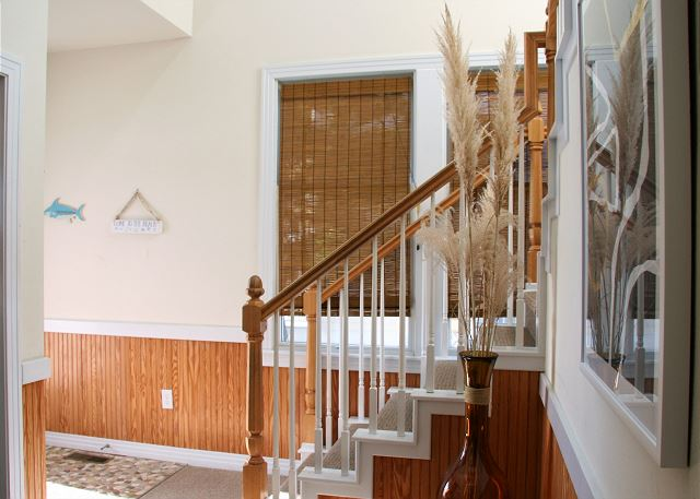 Foyer Entry Level of Par-Tee by the Sea, a 4 bedroom, 3.5 bathroom vacation rental in Corolla, NC