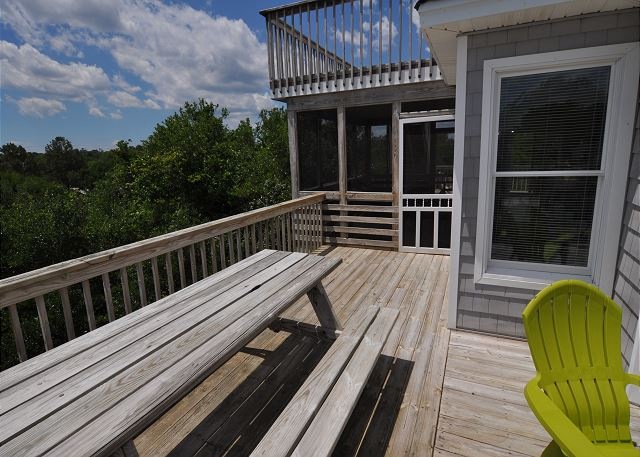 Deck Top Level of Sunset Strip, a 5 bedroom, 3.0 bathroom vacation rental in Corolla, NC