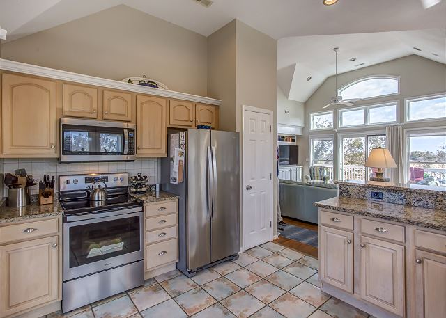 Kitchen of Heron Haven, a 5 bedroom, 4.5 bathroom vacation rental in Corolla, NC