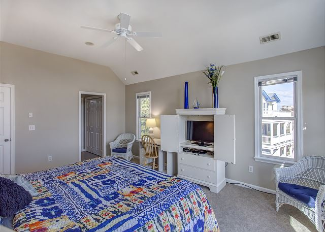 1st King Master Suite Top Level of Heron Haven, a 5 bedroom, 4.5 bathroom vacation rental in Corolla, NC