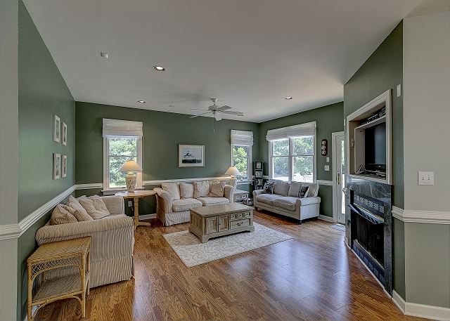 Great Room entry level of A Tar Heel State of Mind, a 4 bedroom, 3.0 bathroom vacation rental in Corolla, NC