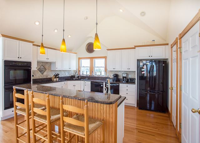 Kitchen Top Level of Nittany Vista, a 7 bedroom, 7.5 bathroom vacation rental in Corolla, NC