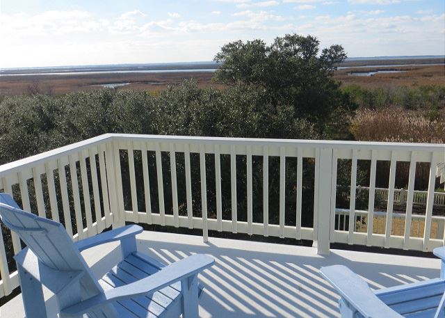 Tower Room Deck of The Sound and The Fury, a 6 bedroom, 6.5 bathroom vacation rental in Corolla, NC