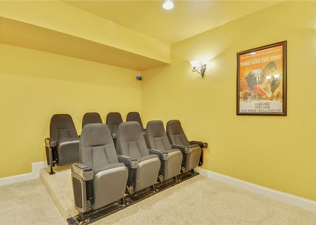 Theatre Room of Coastal Castle, a 8 bedroom, 7.0 bathroom vacation rental in Corolla, NC
