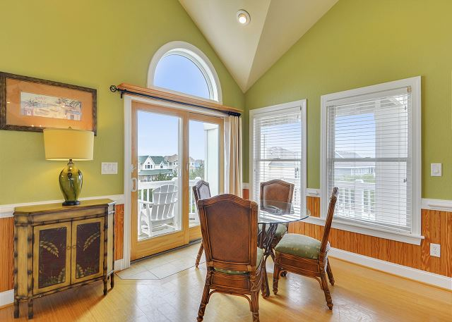 Great Room Top Level of Coastal Castle, a 8 bedroom, 7.0 bathroom vacation rental in Corolla, NC