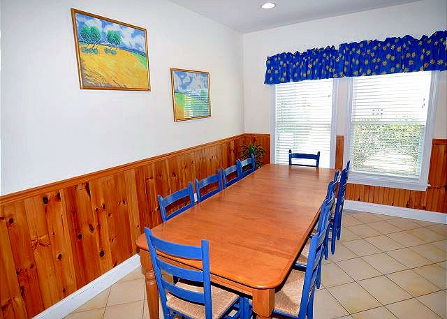 Dining Room Entry Level of Bono Fide Blessing, a 5 bedroom, 4.5 bathroom vacation rental in Corolla, NC