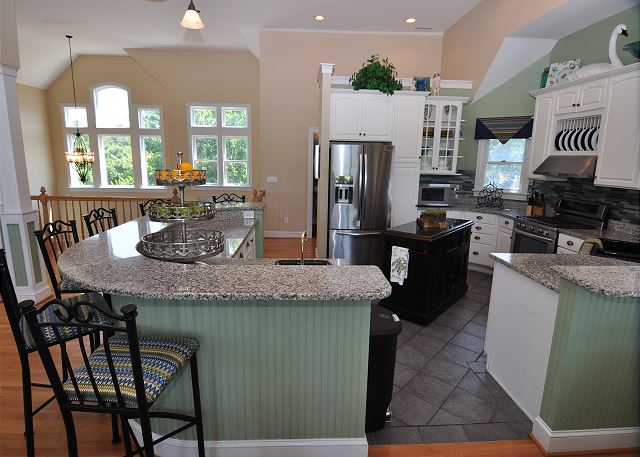 Kitchen Bar Top Level of Tranquility Farms, a 7 bedroom, 5.5 bathroom vacation rental in Corolla, NC
