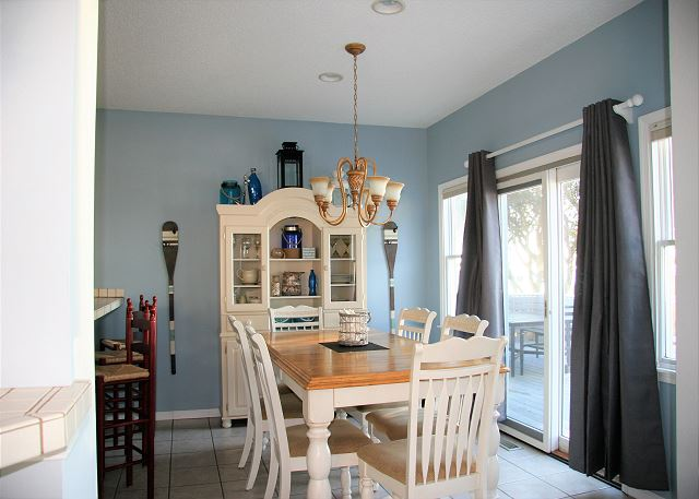 Dining Room Entry Level Sugar Shack is a 4 bedroom, 3.0 bathroom vacation rental in Corolla, NC