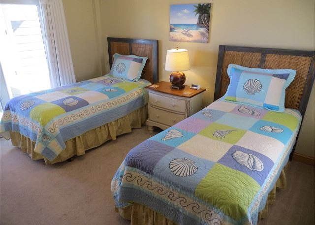 Twin Bedroom Ground Level of Sand Simeon, a 7 bedroom, 7.5 bathroom vacation rental in Corolla, NC