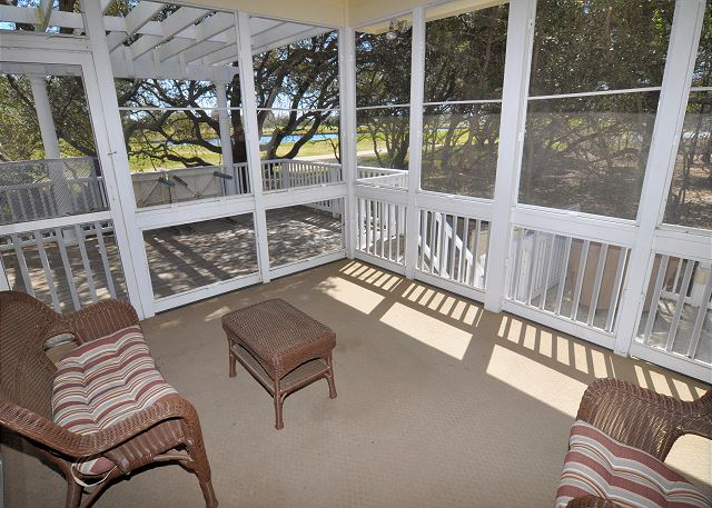 Screened Porch  of FOREplay @5, a 4 bedroom, 3.5 bathroom vacation rental in Corolla, NC