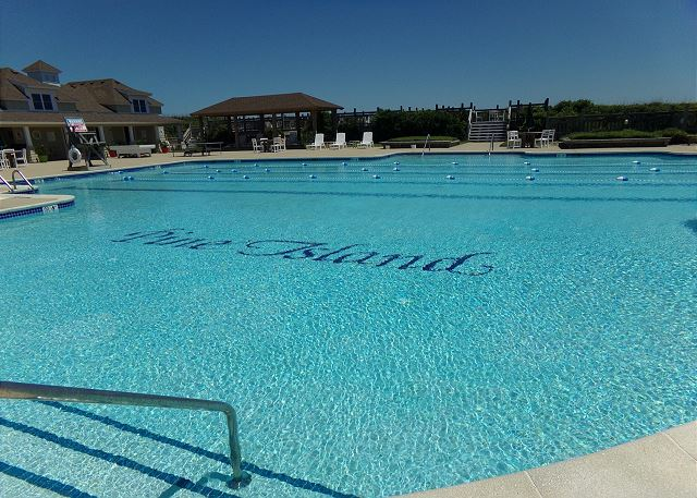 Pine Island Beach Club Oceanfront Pool of Pinch Me, a 5 bedroom, 5.5 bathroom vacation rental in Corolla, NC