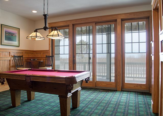 Game Room Entry Level  of The Sound and The Fury, a 6 bedroom, 6.5 bathroom vacation rental in Corolla, NC