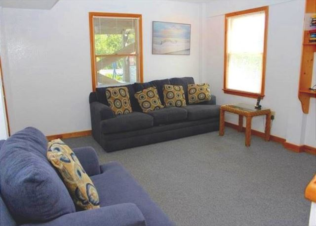 Family Room Ground Level of Bienvenue!, a 5 bedroom, 3.5 bathroom vacation rental in Corolla, NC