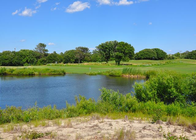 On The Course Pond View of Southern Breeze, a 5 bedroom, 4.5 bathroom vacation rental in Corolla, NC