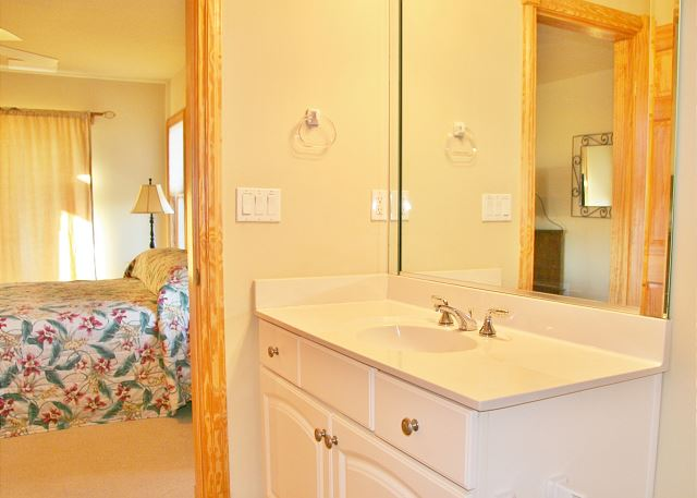 3rd King Master Bathroom Mid Level of A Perfect 10, a 6 bedroom, 5.5 bathroom vacation rental in Corolla, NC