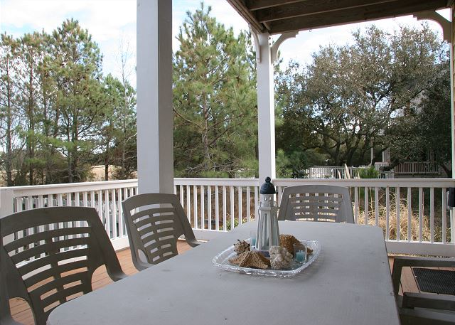 Porch Dining  of A Tar Heel State of Mind, a 4 bedroom, 3.0 bathroom vacation rental in Corolla, NC
