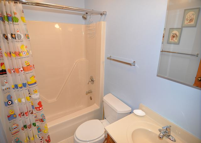 2nd Shower/Tub Combo Bath Mid Level of Kara's Sandcastle, a 4 bedroom, 2.0 bathroom vacation rental in Corolla, NC
