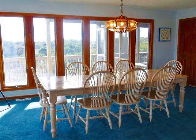 Dining Room Mid Level of Utopia, a 5 bedroom, 5.0 bathroom vacation rental in Duck, NC
