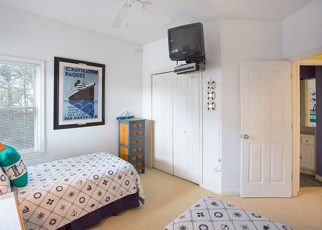 Twin Bedroom Midlevel  of Summerland, a 5 bedroom, 5.5 bathroom vacation rental in Corolla, NC