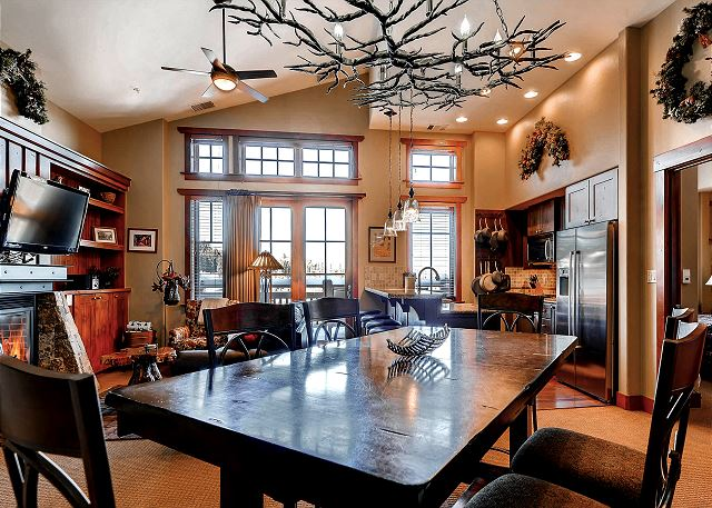 Dining overlooks to living and kitchen area