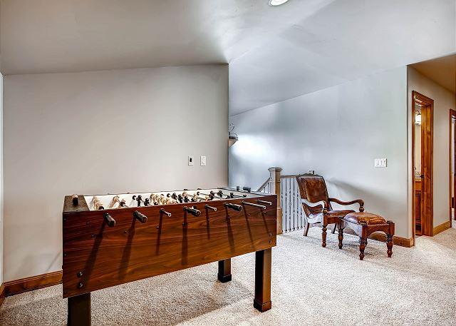 Foosball Table in Upper Level Den